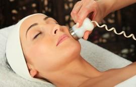 Woman receiving massage  - microdermabrasion